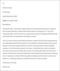 employment resignation letter resignations letters samples