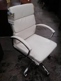 alera neratoli mid back modern office chair white faux leather chrome