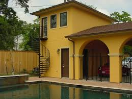 Modern Elegant Design Of The Yellow Painting Outside Walls Ideas - Exterior painting house