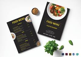 Restaurant Menu Design Templates Modern Restaurant Menu Design Template In Psd Word Publisher