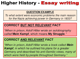 higher history essays writing knowledge points 4