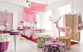 Pale Pink Bedroom White Dotted Pink Sheet Custom Motif Girls Small Bedroom Ideas