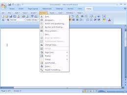 office word download free 2007 screen shot of classic menu for office 2007