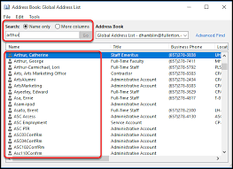 Search For A Contact In Outlook Address List Email It Knowledge Base