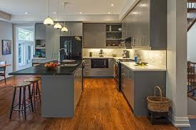 amazing contemporary kitchen grey cabinets
