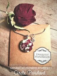 memorial flower necklace dried flowers funeral flowers in