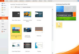 themes for ms powerpoint creating a presentation using a template
