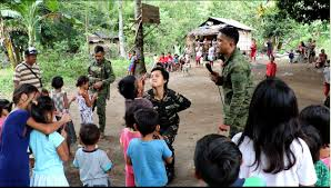 army s 58 th infantry battalion together with the local government unit of lagonglong in misamis oriental holds a gift giving activity to the evacuees from