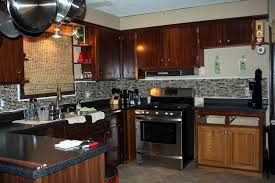 Dark Mahogany Kitchen Cabinets Kitchen Decorating Ideas For Dark Brown Cabinets Info Home And