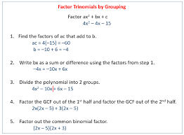 factoring by grouping solutions examples s 10 4 solving polynomial equations in factored form ppt