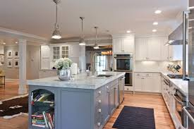 dark white marble kitchen countertop on a large