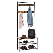 Shoe And Coat Rack Magnificent Amazon SONGMICS Vintage Coat Rack With Hooks Hall Tree