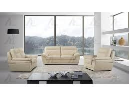 cream leather sofa set