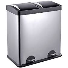 step n sort 16 gallon 2 compartment trash and recycling bin available in multiple colors com