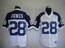 Throwback 28 Sale White Stitched Thanksgiving Jersey Cowboys Jones With Shipping Free Nfl Cheapest Felix