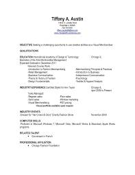 Fashion Merchandising Resume Examples Visual Merchandising Resume