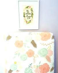 peach crib sheet vintage fl bedding fitted summer blooms flower nursery c set