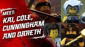 Meet Kai, Luke Cunningham, Dareth and Cole - LEGO NINJAGO - Character Video  - YouTube