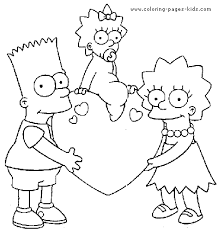 The Simpsons Color Page Coloring Pages For Kids Cartoon