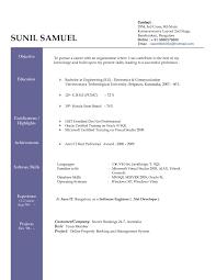 Resume Doc Format It Resume Cover Letter Sample