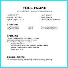 Beginner Acting Resume Adorable Resume Examples For Beginners Mmventuresco