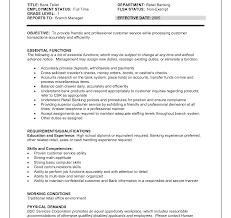 Resume Sample For A Bank Teller Position Job Description