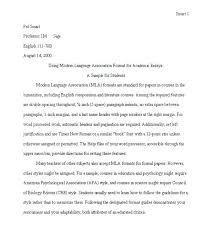 Proper Mla Format For Essays Essay Essay Format Paper Format College