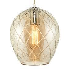 darcy 1 light ceiling light polished chrome glass close up