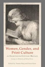 women gender and print culture in eighteenth century britain lehigh university press women gender and print culture in eighteenth century britain