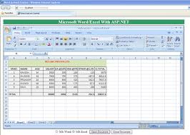 Excel Word Word Excel Activex Controls In Asp Net Codeproject
