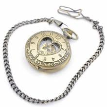 nice watch brands for men online shopping the world largest nice 10pcs h249 bronze tone heart shape case design hand wind up mechanical pocket watch w