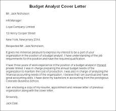 Budget Cover Page Template Gallery Of Budget Analyst Cover Letter