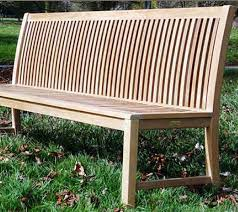 armless a grade teak garden bench