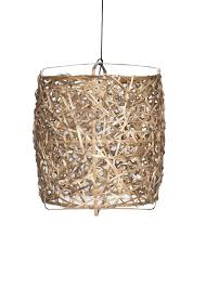 ay illuminate hanging lamp bird s nest natural bamboo large ø78x105cm wonen met lef