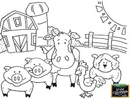 free coloring pages farm animals best free teaching tools kids coloring pages images on of farm free coloring pages farm animals