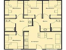 kitchen simple 4 bedroom house designs ranch floor plans alluring home ideas