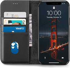 Amazon.com: LONLI All-in-One Leather Wallet Case   Compatible with iPhone 12  Pro Max - (6.7 inch, Black)