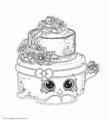 Shopkins Coloring Pages 232 Wedding Cake 6 Betweenpietyanddesirecom