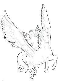 Unicorn And Fairy Coloring Pages Baby Professional Colouring Tail