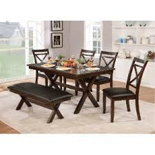 dining room table and chair sets. clearance dark cherry transitional 6-piece dining set with bench - westerly room table and chair sets o