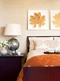 fall bedroom decor. add a throw blanket and wall décor to transition your bedroom from summer fall! fall decor