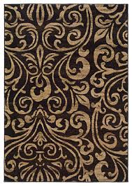 oriental weavers emerson 2033c black gold botanical area rug contemporary area rugs by rugmethod