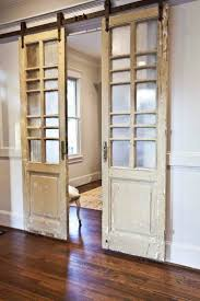 French Doors hung as sliding barn doors! -- My French Study - Part I