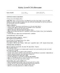Example Cna Resume Cool Cna Resumes Samples Resume Nursing Assistant Resumes Samples Slintco