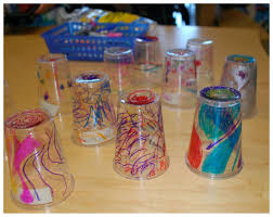 Decorating Plastic Tumblers Chihuly Art Kindergarten Style Rubber Boots And Elf Shoes