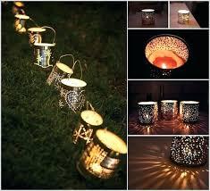 tin lights tin can garden lights recycle tin cans into garden lamps outdoor tin lights tin
