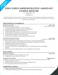 Administrative Assistant Sample Resume Extraordinary Sample Resume Education Major Minor Fruityidea Resume