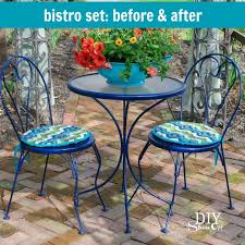 outdoor bistro set before and after