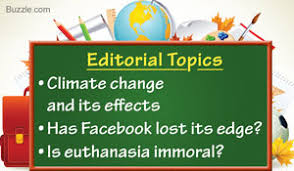 a list of interesting editorial topics for high school students