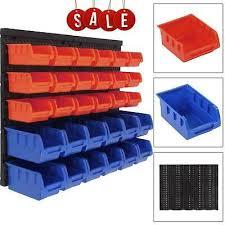 30xplastic bins wall mounted storage